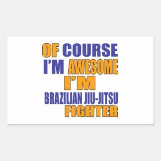 Naturalmente eu sou lutador de Jiu-Jitsu do Adesivo Retangular