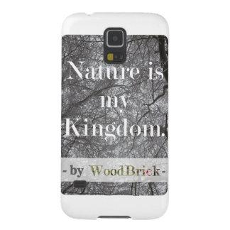 """Nature is my kingdom"" - writing&snowy treetops Capinhas Galaxy S5"