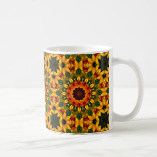 Natureza alaranjada 02 da íris amarela, caneca de café