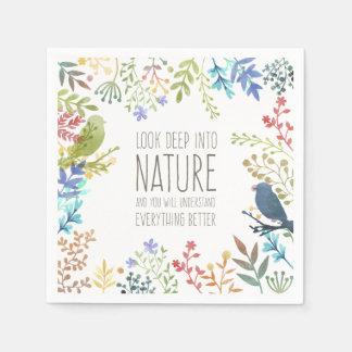 Natureza colorida guardanapo inspirado das