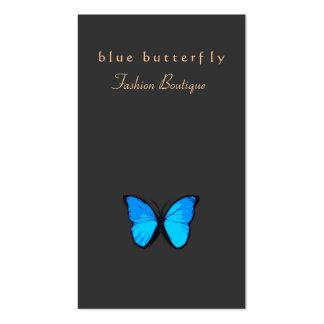 Natureza da borboleta do azul de turquesa cartão de visita