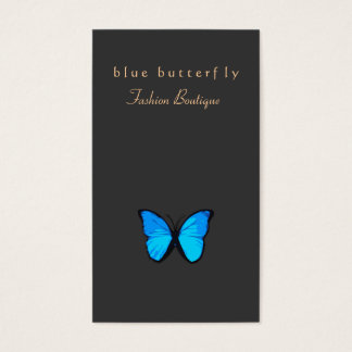 Natureza da borboleta do azul de turquesa cartão de visitas