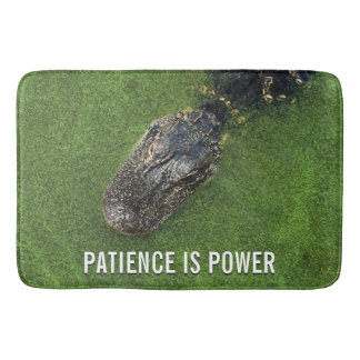 Natureza de Florida • Jacaré • A paciência é poder Tapete De Banheiro