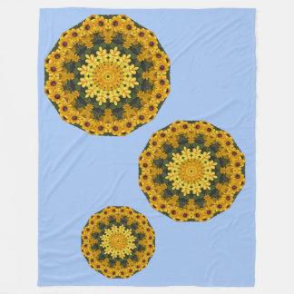 Natureza de olhos pretos de Susans, Flor-Mandala Cobertor De Velo
