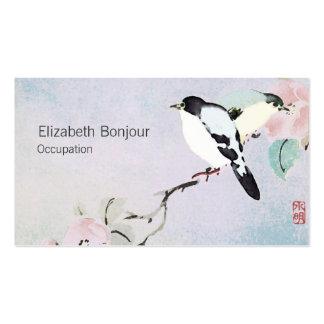 Natureza de relaxamento do asiático dos cartões de cartão de visita