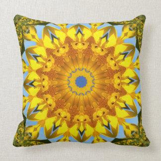 Natureza do girassol, Flor-Mandala Almofada