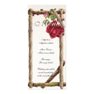 Natureza do modelo do menu do casamento vintage 10.16 x 22.86cm panfleto