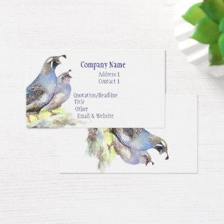 Natureza do pássaro do cartão de visita das