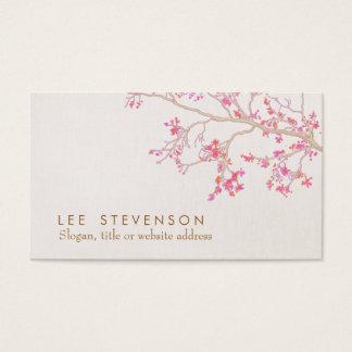 Natureza floral das flores de cerejeira cartão de visitas