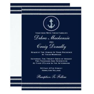 Cartão Náutico - convite do casamento