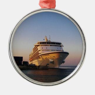 Navegador dos mares do forro sete ornamento redondo cor prata