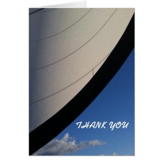 Navegue os mares azuis - obrigado cartões