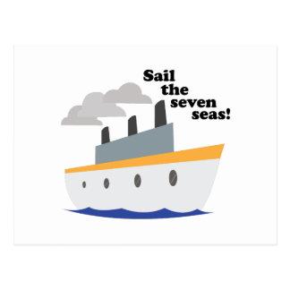 Navegue os sete mares! cartao postal