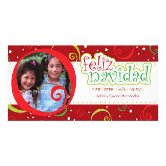 navidad do feliz (alegre) cartão com foto personalizado