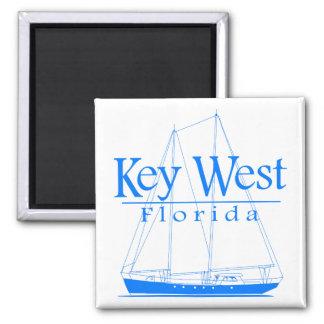 Navigação azul de Key West Ímã Quadrado