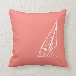 Navigação cor-de-rosa coral almofada