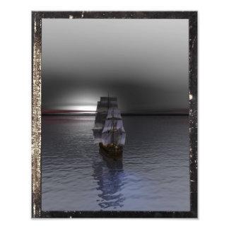 Navigação da elevação da lua impressão de foto