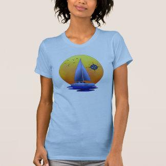 Navigação do catamarã tshirt
