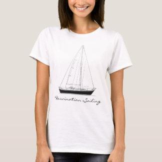 Navigação do fascínio - camisa com o barco de vela