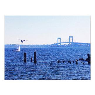 Navigação doce na ilha da cidade impressão de foto