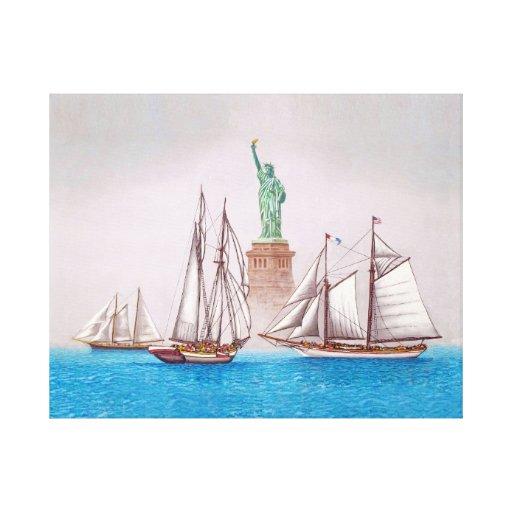 Navigação em Bom Empresa Impressão De Canvas Envolvida