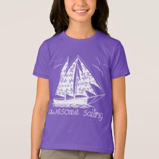 Navigação impressionante! náutico feminino camiseta