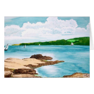 Navigação no cartão da pintura do rio de Helford