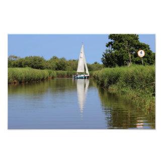 Navigação no Norfolk Broads Foto