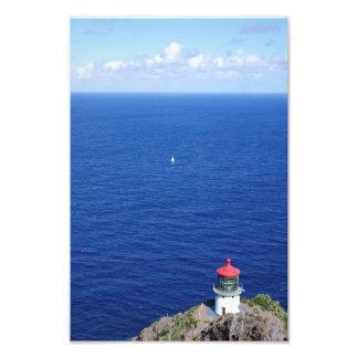 Navigação pelo farol de Makapu'u Impressão De Foto