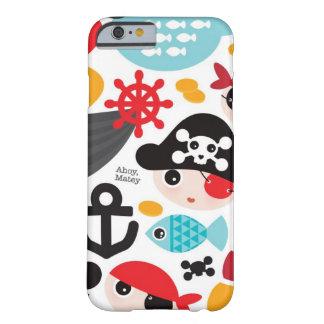Navigação retro da ilustração dos piratas capa barely there para iPhone 6