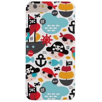 Navigação retro da ilustração dos piratas capas iPhone 6 plus barely there