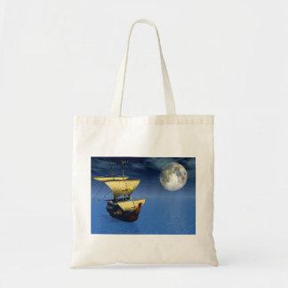 navio 3d com saco da lua bolsa