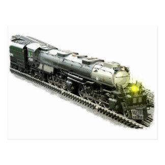 Navio a vapor modelo grande cartão postal