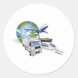 Navio de carga do trem do caminhão do avião do con adesivos