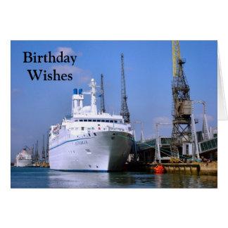 """Navio de cruzeiros """"Astoria"""", cartão customizável"""