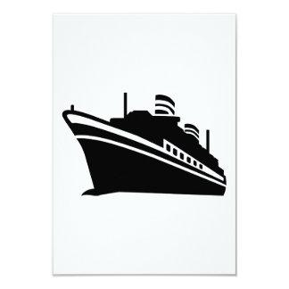 Navio de cruzeiros convites