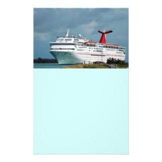 navio de cruzeiros panfletos