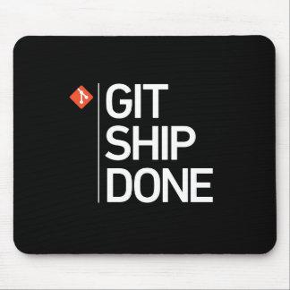 Navio de Git feito Mouse Pad