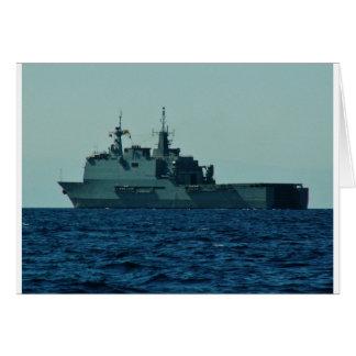 Navio de guerra espanhol cartao
