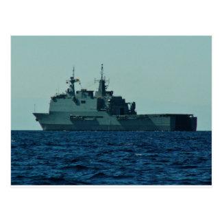 Navio de guerra espanhol cartão postal