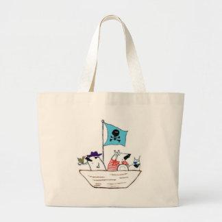 Navio de pirata bolsas de lona