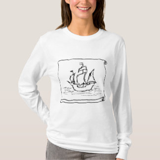 Navio de pirata camiseta