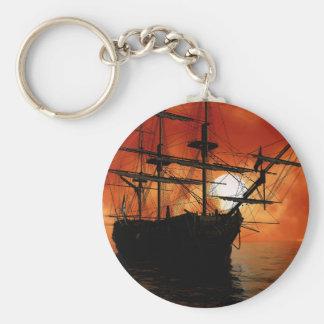 Navio de pirata do vintage chaveiro