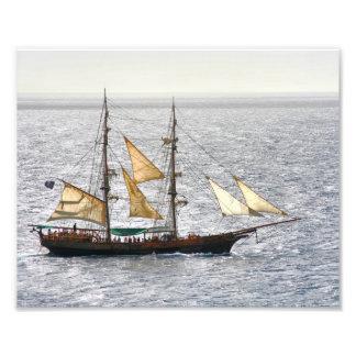 Navio de pirata impressão de foto