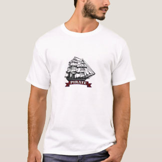 Navio de pirata - navegando os sete mares camiseta