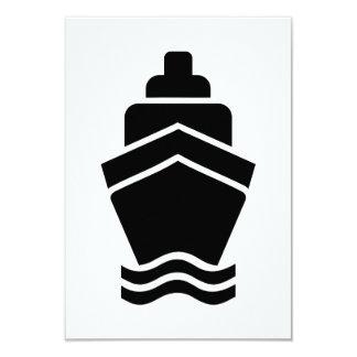 Navio de recipiente do cruzeiro convite personalizado