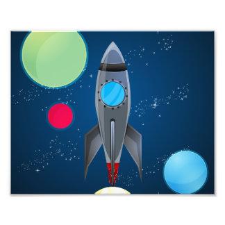 Navio de Rocket de espaço Arte De Fotos