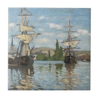 Navios de Claude Monet que montam no Seine em