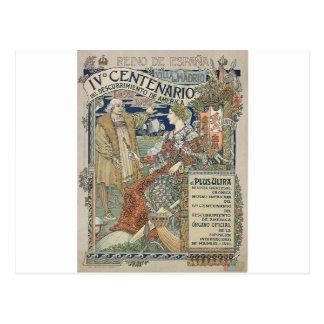 Ne mais ultra. Reino de Espana por Eugène Grasset Cartão Postal