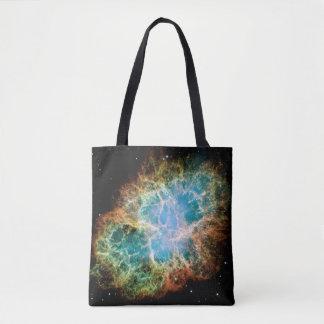 Nebulosa alaranjada & verde bolsa tote
